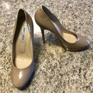 Jimmy Choo Cosmic Platform Nude Shoes Size 8.5